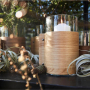 LIND DNA Стеклянная ваза для цветов с деревянной отделкой Wood (87053)