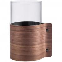 LIND DNA Стеклянная ваза для цветов с деревянной отделкой Wood (87055)