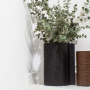 LIND DNA Стеклянная ваза для цветов обшитая кожей (9813)