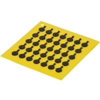 Lodge Подставка квадратная с логотипом сковороды, 19 см. желтая. (AS7S21)
