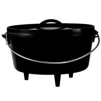 Lodge Жаровня чугунная овальная на ножках, 26 см/4,8 л., черная (L10DCO3)