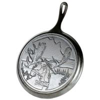 Lodge Чугунная сковорода блинная круглая Wildlife Series Moose 26 см (L9OGWLMO)