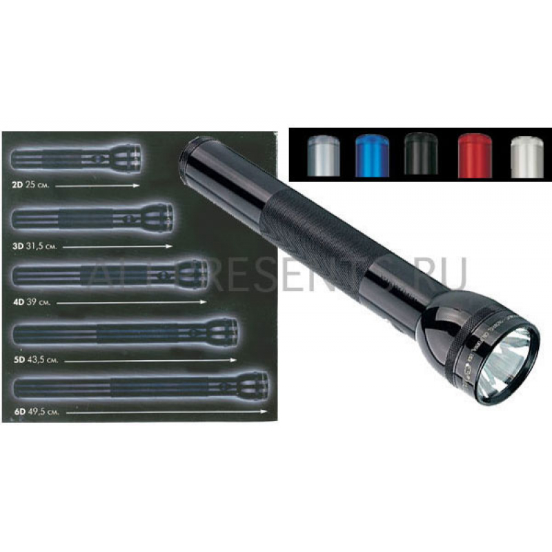 Maglite фонарь 2D на 2 батареи D