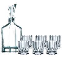 Nachtmann Набор для виски из 6-ти хрустальных стаканов и штофа Aspen (90025)