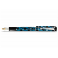Parker Перьевая ручка Duofold Mini Blue Platinum (S0779860)