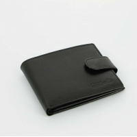 S.Quire Портмоне черное, гладкое (5200-BK VT)