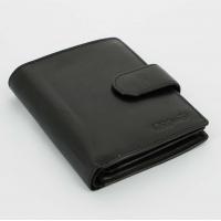 S.Quire Портмоне черное, гладкое (5600-BK VT)