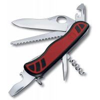 Victorinox швейцарский перочинный нож Forester M Grip_x000D_ 111мм 12 функций красный, черный (0.8361.MC)