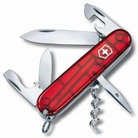 Victorinox швейцарский перочинный нож Spartan_x000D_ 91мм 12 функций красный полупрозрачный (1.3603.T)