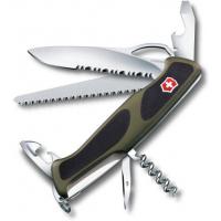 Victorinox швейцарский перочинный нож RangerGrip 179_x000D_ 130мм 12 функций зеленый, черный (0.9563.MWC4)