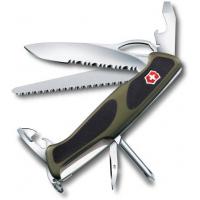 Victorinox швейцарский перочинный нож RangerGrip 178_x000D_ 130мм 12 функций зеленый, черный (0.9663.MWC4)