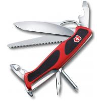 Victorinox швейцарский перочинный нож RangerGrip 78_x000D_ 130мм 12 функций красный, черный (0.9663.MC)