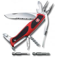 Victorinox швейцарский перочинный нож RangerGrip 174 Handyman_x000D_ 130мм 17 функций красный, черный (0.9728.WC)
