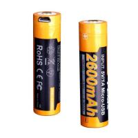 Аккумулятор 18650 Fenix 2600U mAh с разъемом для USB