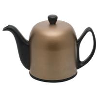 Guy Degrenne Фарфоровый заварочный чайник Salam с алюминиевым колпаком 1 л бронзовый/черный (237415)