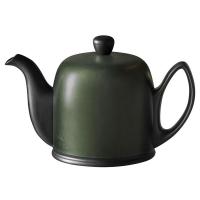 Guy Degrenne Фарфоровый заварочный чайник Salam с алюминиевым колпаком 1 л хаки/черный (240138)