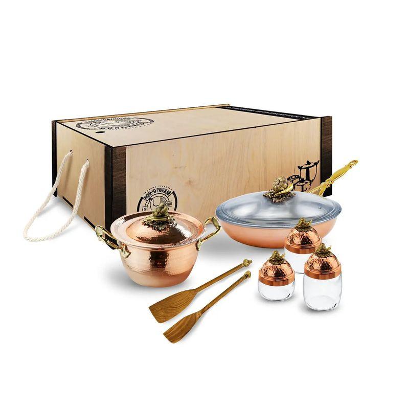 Кольчугинский мельхиор Набор медной посуды